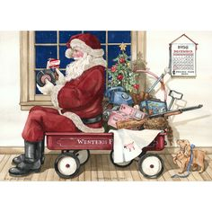 *Santa* Sandi Gore Evans. Just a minute - gotta check out this toy.