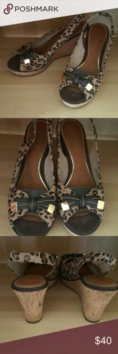 """Sperry EUC No Box Women's 9 Peep Toe Wedge  4"""" Wedge Sperry Top-Sider Shoes Sandals"""