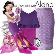 Disneybound: Alana (of course I love this outfit because it is purple and pink...my two favorite colors!!!!)