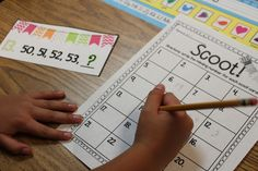 ScootThis  is a fun whole group activity you can use to practice, review, or assess counting to 120. I love it because it gives my students a chance to move around the room! This Scoot game focused on figuring out the missing numbers.