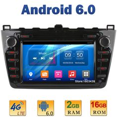 "8"" Quad Core 2GB RAM+16GB ROM 4G LTE SIM WIFI Android 6.0 Car DVD Multimedia Player Radio For Mazda 6 Ruiyi Ultra 2008-2012 DAB+"