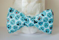 BOWTIE | BLUE emoji brains by handmadephd. Explore more products on http://handmadephd.etsy.com