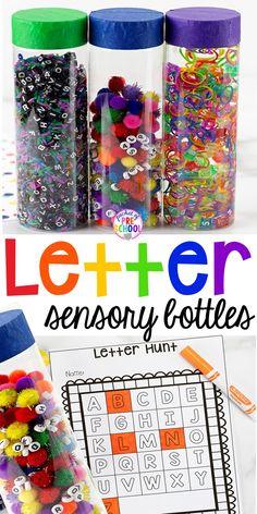 Letter Hunts & Letter Sensory Bottles