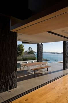 This three storied house (two levels above ground, one below ground) is located up a long tree lined driveway on a stunning site with views out across Karaka Bay to Browns Island right around to Music Point. The plan focuses around the pivotal central space that welcomes visitors and extends the...