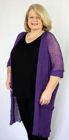 KITA KU Loose knit jacket in Purple, available in 5 awesome colours online now only $29.00, please feel free to visit: www.theuniqueyou.net