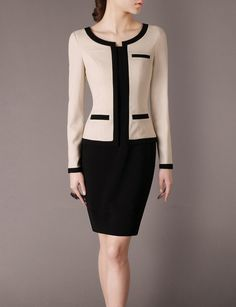 Autumn Winter Women Outfits Patchwork Dresses Plus by Chieflady, $95.00