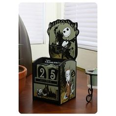 Nightmare Before Christmas Jack and Kids Wooden Calendar - Neca - Nightmare Before Christmas - Office at Entertainment Earth