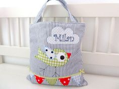 Kids Tote Bag Children Tote Bag Tote bag by NaniluDesign on Etsy, $40.00 - love the bird on the line of bunting