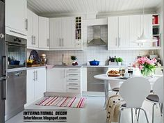 Scandinavian kitchen style and design, large kitchen