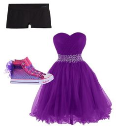 """tom-boy prom"" by kregi800 ❤ liked on Polyvore featuring Patagonia, Skechers, Prom and tomboy"