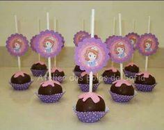 Cake pops de la Princesa Sofia