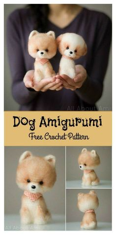 Little Fluffy Dog Amigurumi Free Crochet Pattern ##freecrochetpatterns #amigurumi