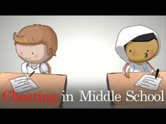 Cheating in Middle School HAHAAAHAHA probably one of the funniest videos I've seen in a while.