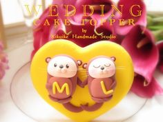 LOVE ANGELS Wedding Cake Topper- love otter | Flickr - Photo Sharing!