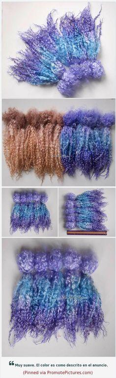 Doll Hair wensleydale violet blue ombre long wool locks 30 cm long for Blythe BJD Art Dolls waldorf pullip wig spinning felt Lafiabarussa https://www.etsy.com/LaFiabaRussa/listing/607580415/doll-hair-wensleydale-violet-blue-ombre?ref=shop_home_active_1  (Pinned using https://PromotePictures.com)