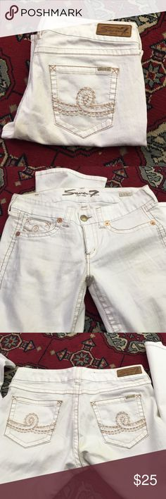 Seven for Allman kind white jeans Great condition Seven7 Jeans Straight Leg