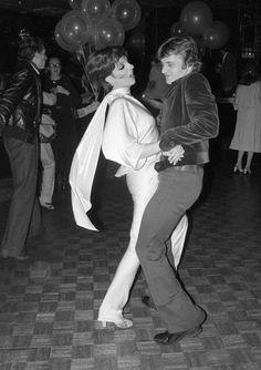 Liza Minnelli and Mikhail Baryshnikov dance together at Studio 54  - December 29, 1977 Manhattan, New York, NY, USA