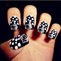 Nail Art - Hello Kitty