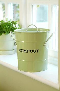 Composting is good for gardening and for the planet. This cute compost pail is great for checking off entries on your Christmas gift list.