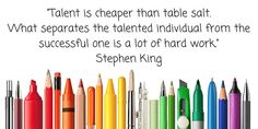 Talent and writing quote Stephen King