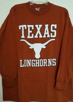University of Texas Longhorns Burnt Orange~LONG SLEEVE~T-Shirt *Large* Cotton #UniversityCoopCampusWear #LongSleeve