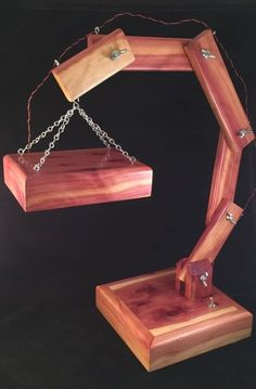 LED Lamp Made from Red Cedar