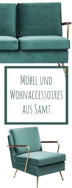 Möbel & Wohnaccessoires aus dem neuen It-Material Samt. Home & Interior, Möbel, Wohnen, Wohntrend, Shopping, Interieur, Leben, Zuhause, Einrichtung,