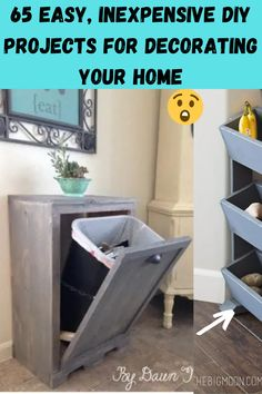 Most people think it takes a lot of money to decorate a home. However, we've gathered 65 of our favorite home DIY projects that prove that is definitely not the case. The one unifying factor among all of these projects is that they are cheap. Dirt cheap. Some are even free, made entirely from recycled products and old items you probably already have lying around in a closet somewhere.