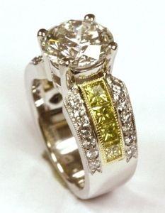 d1ff77d3e81a Custom Design by Rock White  4 Carat  Ring Platinum  diamonds Custom  Jewelry Design