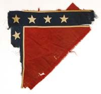 Fragment of Confederate battle Flag