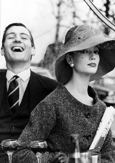 Simone D'Aillencourt by Regina Relang, 1957. Hat by Jean Barthet.