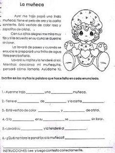 Fichas Infantiles: Ficha de comprensión lectora para niños:
