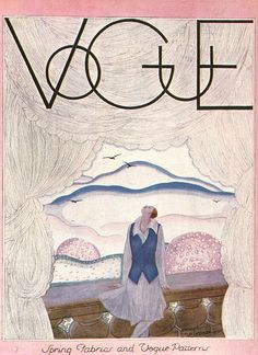 Some beautifully illustrated vintage Vogue covers . from Miss Moss who scanned them from a book of Vogue covers and from Modeesquisse who has an extensive. Vogue Vintage, Capas Vintage Da Vogue, Vintage Vogue Covers, Art Deco Illustration, Vintage Magazines, Old Magazines, Miss Moss, Vogue Magazine Covers, Illustrations And Posters