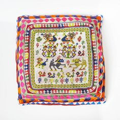 Indian Vintage Beaded Pillow