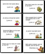Bible Verse Cards-Print 8 to a sheet and take your children through the Christmas Story, learning key Bible verses along the way. Available in BW or Color