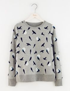 I think (hope?) this is a fun print without looking childish. Worried the whites make it a bit too giant polka dot-ish, though. Fun Sweatshirt, Boden.
