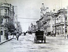 Perth, Western Australia in the Early corner of William St St Georges Tce. Perth Western Australia, Perth Australia, Australia Travel, Aboriginal History, Kings Park, Interesting Buildings, Largest Countries, Tasmania, Old Photos