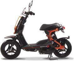 คันนี้เลย Le scooter Gamax Spillo affiche des lignes et équipements minimalistes Scooter 50cc, 50cc Moped, 3 Wheel Scooter, Scooter Design, Motorbike Design, Electric Moped, Electric Cycles, Scooters, Moto 50cc