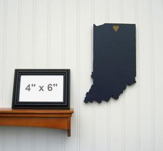 """Notre Dame Fighting Irish """"State Heart"""" wall art, handcrafted wood with official team colors $29.00"""