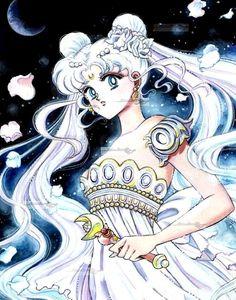 Princess Serenity-Original Sailor Moon Art Work By Naoko Takeuchi Sailor Moon Manga, Sailor Pluto, Sailor Mars, Neo Queen Serenity, Princess Serenity, Sailor Moon Crystal, Manga Illustration, Illustrations, Princesa Serena