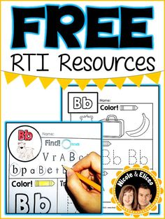 FREE RTI resources for letter ID, sounds and sight words!