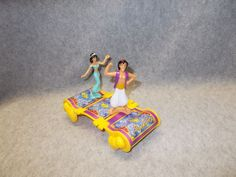 Disney Aladdin Princess Jasmine Toy Figures Cake Topper Magic Carpet Car | eBay