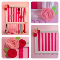 Picture frame headband and hair clip holder.
