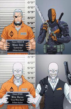 Deathstroke and Great White Shark - Batman Comics Anime, Comic Manga, Dc Comics Art, Marvel Dc Comics, Comic Book Characters, Comic Character, Comic Books Art, Comic Art, Personnage Dc Comics