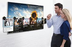 Every year at the Consumer Electronics Show (CES), companies unveil their cutting-edge products. Samsung has hinted that it plans to show off new Smart TVs with advanced finger gesture controls at CES Tv Samsung, Samsung Smart Tv, Senior Services, Tv Services, Sony Tv, Fifth Doctor, Tv Sets, Europe, Digital Signage