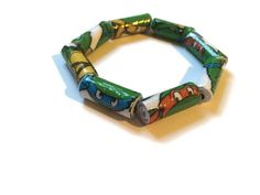 Teenage Mutant Ninja Turtles Paper Bead Bracelet by PurpleSmoothie