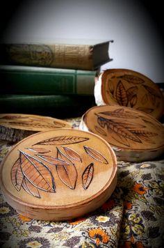 rustic coasters, rustic coaster set, wood coasters, woodburned coasters, rustic home decor  Hand burned by Ricki Timber Tavi!  Please visit my shop at  https://www.etsy.com/shop/RickiTimberTavi