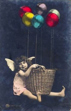 Vintage Postcard ~ Angel w/ Bloons Vintage postcard ca 1910 of my favorite model / This lovely child is such a mystery! Vintage Photos Women, Vintage Girls, Vintage Pictures, Vintage Photographs, Vintage Children, Vintage Images, Angeles, Advertising Photography, Vintage Holiday