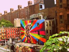 Eduardo Kobra  is an exponent of Sao Paulo's neovanguard. You can see this in NYC...It's Great!!!