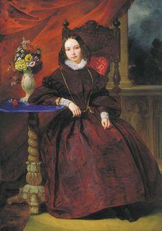 "Pyotor Vasilievich Basin ""Femme de l'Artiste"" 1837"